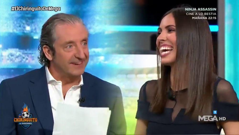 ¿Madrid o Barça?: ojo a la reacción de Sandra después de que Pedrerol le preguntase por su equipo