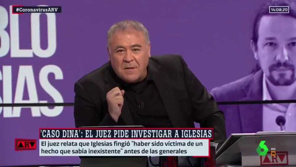 """Ferreras responde tajante a las críticas por el 'caso Dina': """"Hacemos lo que creemos que tenemos que hacer"""""""