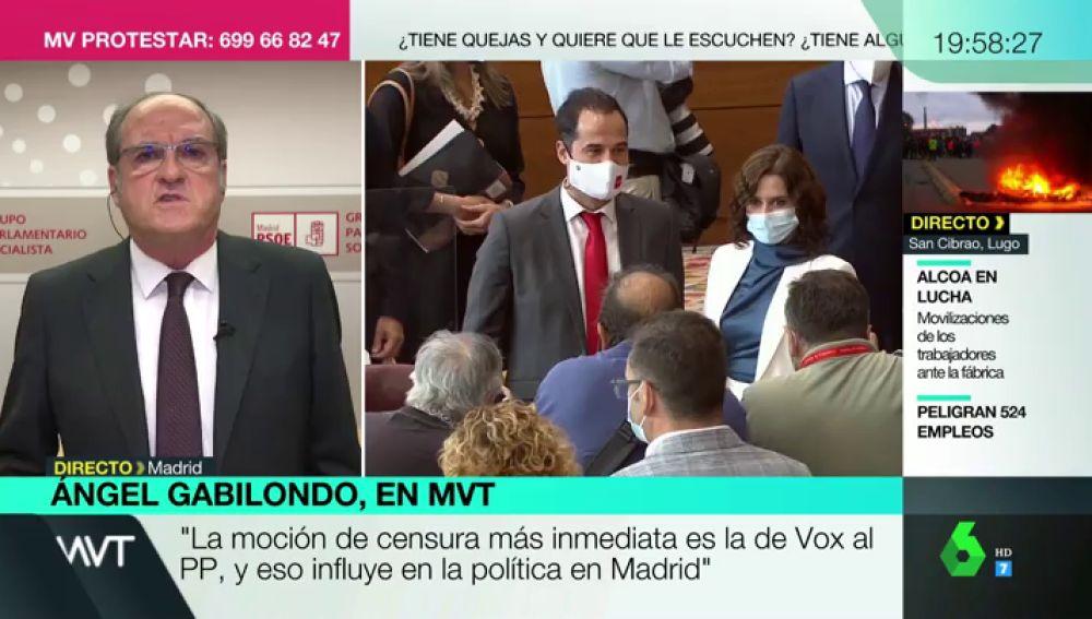 """¿Habrá moción de censura contra Ayuso? Responde Ángel Gabilondo: """"Hay que encontrar el momento adecuado"""""""
