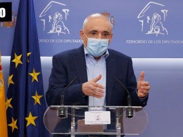 El portavoz del PSOE en el Congreso de los Diputados, Rafael Simancas