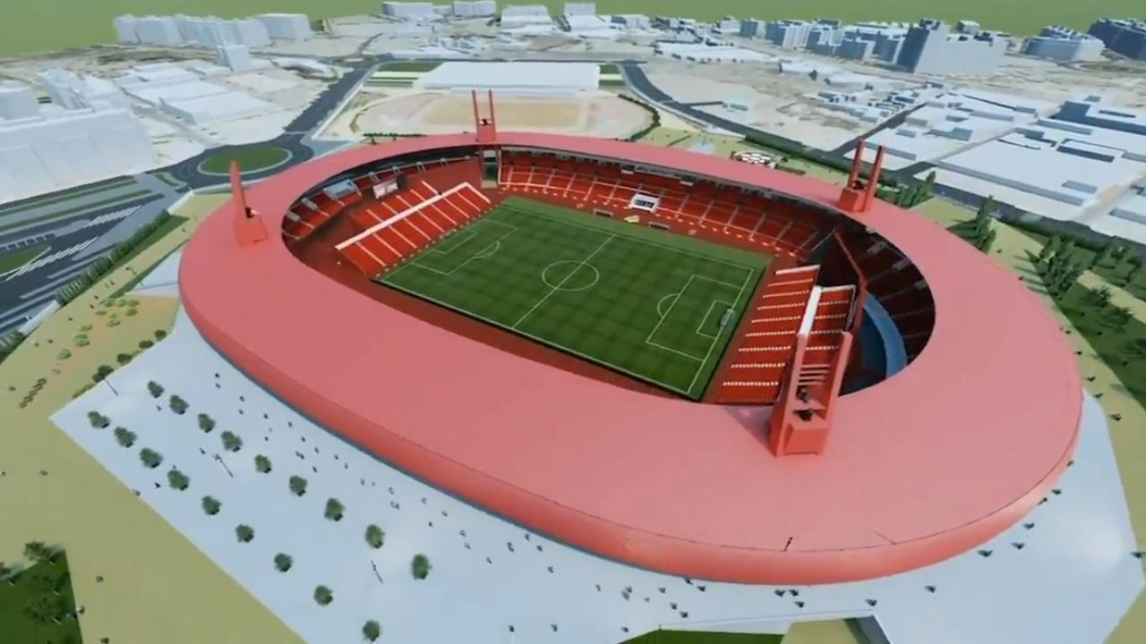 El nuevo estadio del Almería