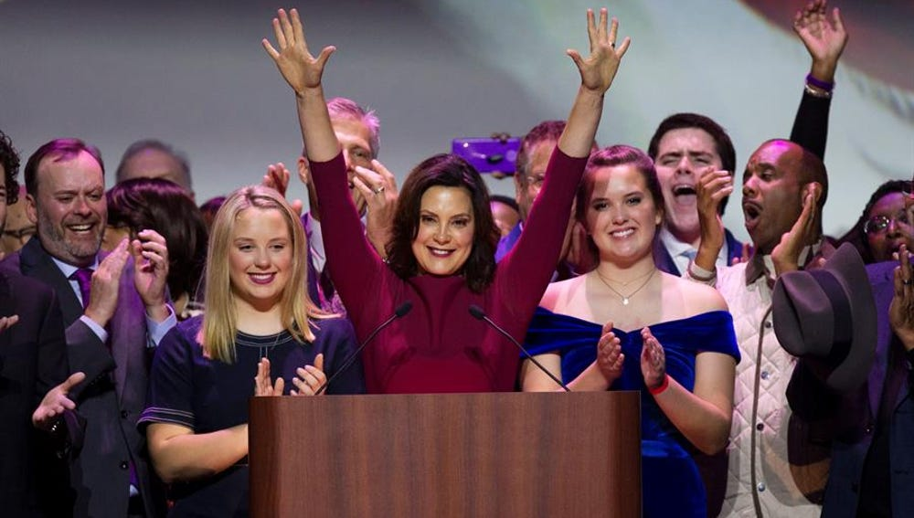 La gobernadora de Michigan, Gretchen Whitmer