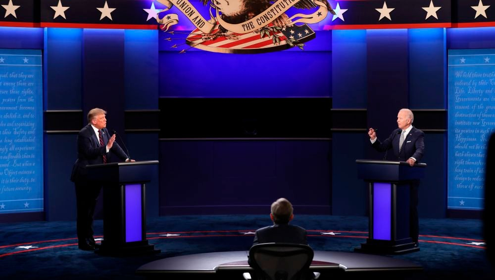 Donald Trump y Joe Biden en un debate electoral