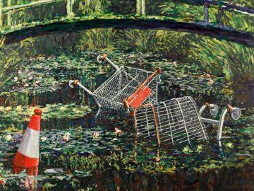 La obra 'Show me the Monet' de Banksy