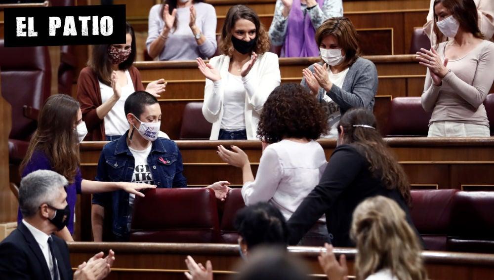 La diputada de Unidas Podemos Aina Vidal vuelve al Congreso tras recuperarse de un cáncer