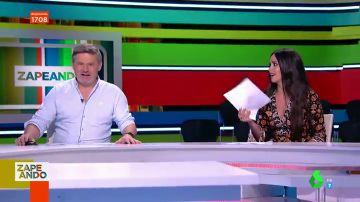 El mal rato de Cristina Pedroche en pleno directo de Zapeando