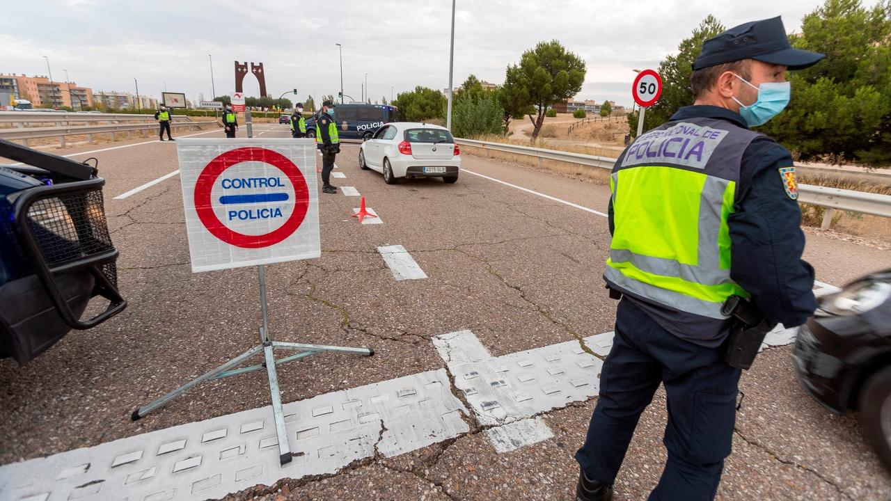 Controles a la entrada de Zaragoza