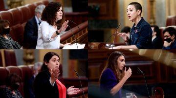 Las cuatro diputadas de Unidas Podemos contra las que ha arremetido Abascal