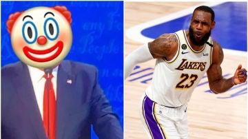 LeBron James y su mofa de Donald Trump