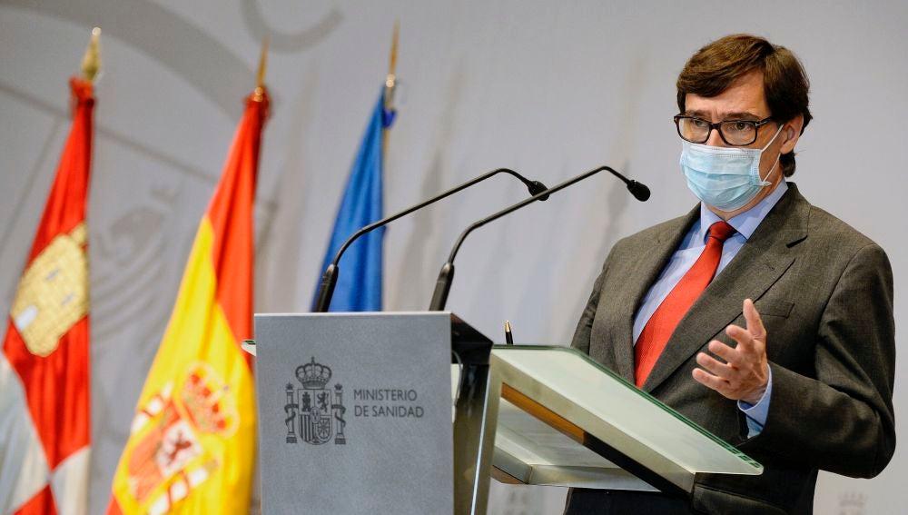 El ministro de Sanidad, Salvador Illa, en su comparecencia