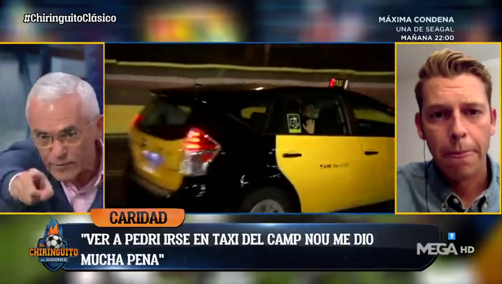 """Paco García Caridad estalla en 'El Chiringuito': """"Se me saltaron las lágrimas cuando vi a Pedri irse en taxi del Camp Nou"""""""