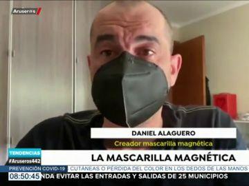un asturiano inventa una mascarilla con sujeción a través de imanes