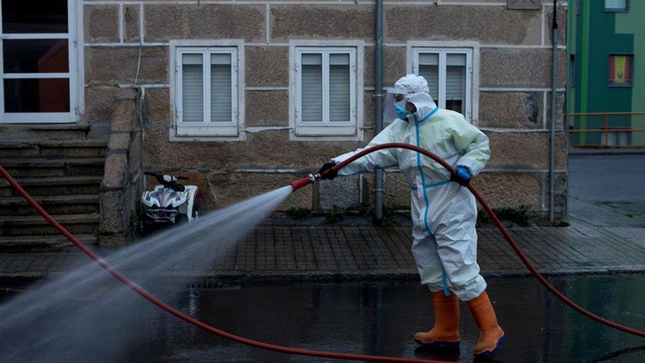 Labores de desinfección en Ourense