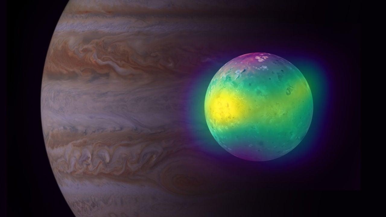 Io, la luna de Júpiter con más de 400 volcanes activos