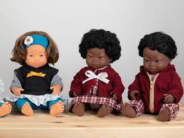 Colección de muñecos con Síndrome de Down de la marca Miniland