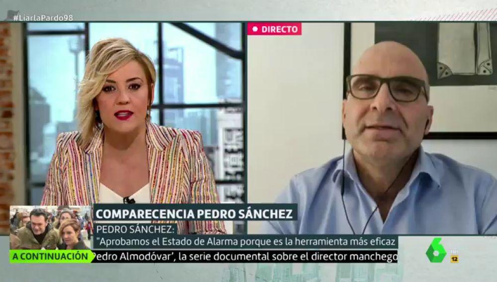 Cristina Pardo entrevista en Liarla Pardo al virólogo José Antonio López Guerrero