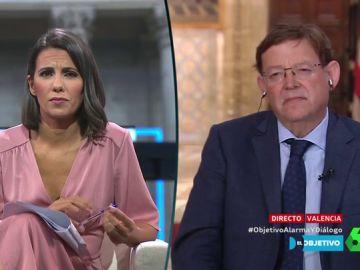 Ana Pastor entrevista en El Objetivo a Ximo Puig