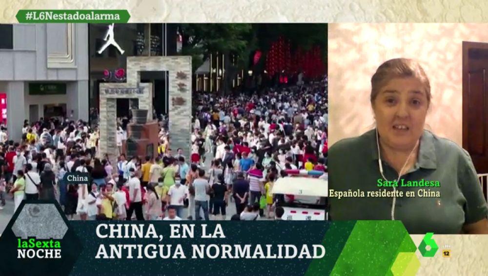 Sara Landesa, española residente en China