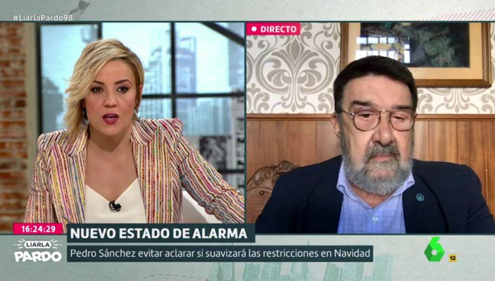 Cristina Pardo entrevista al epidemiólogo Juan Gestal,