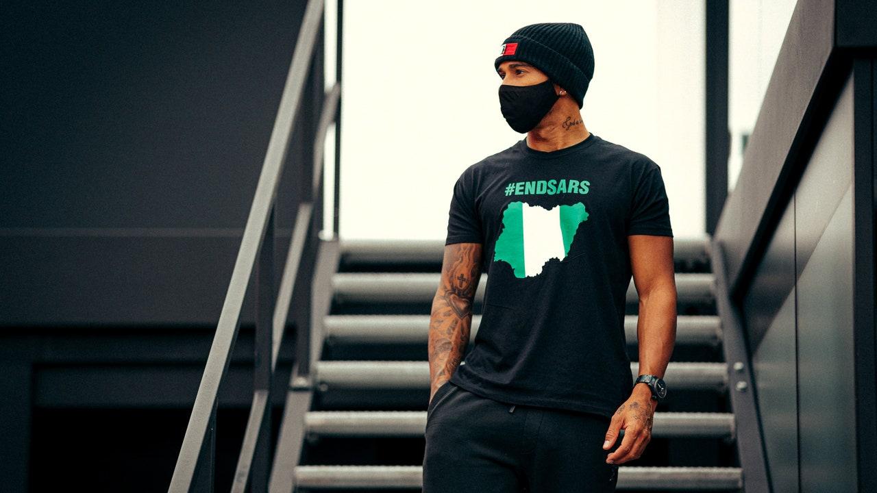 Lewis Hamilton y su nueva camiseta reivindicativa