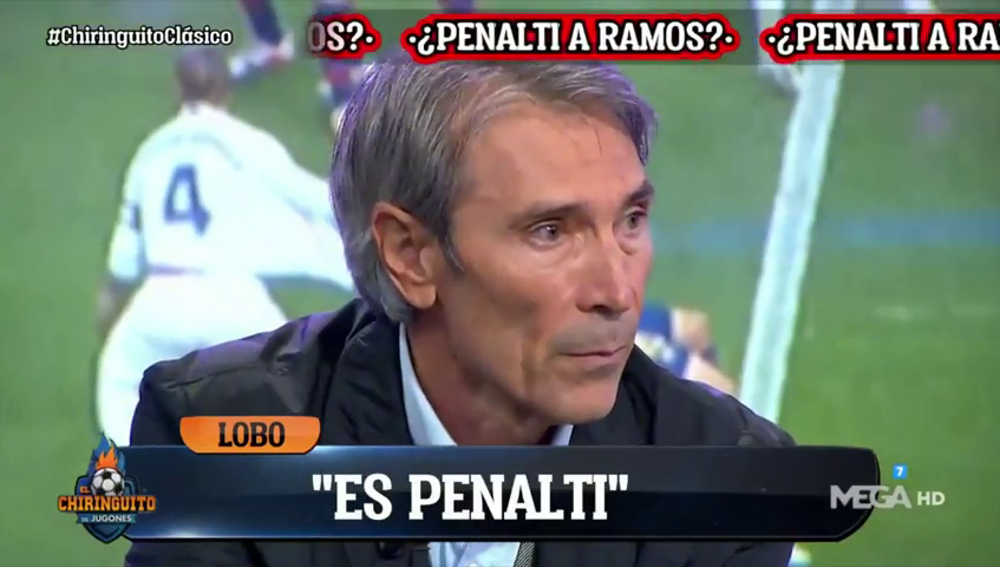 """Lobo Carrasco y el histórico momento en 'El Chiringuito' que puso a Josep Pedrerol en pie: """"Es penalti a Ramos"""""""