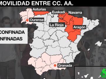 El mapa de los confinamientos perimetrales