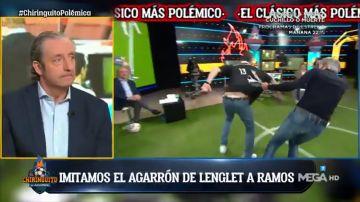 Lobo Carrasco y Tomás Roncero reproducen el polémico penalti de Lenglet a Ramos