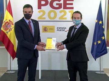 """Pedro Sánchez y Pablo Iglesias presentan los Presupuestos Generales del Estado:  """"Inaplazables, indispensables y progresistas"""""""