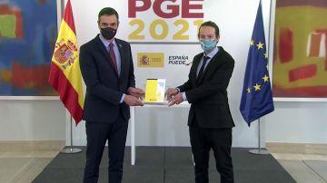 Pedro Sánchez y Pablo Iglesias presentan los PGE
