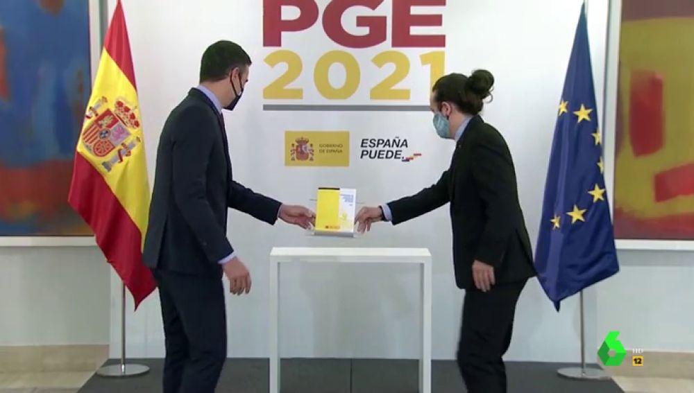 Sánchez e Iglesias presentan los Presupuestos
