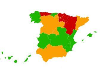Mapa de restricciones en España