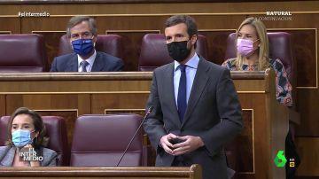 """Vídeo manipulado - La declaración de amor de Casado a Sánchez en pleno Congreso: """"¿Quieres casarte conmigo?"""""""