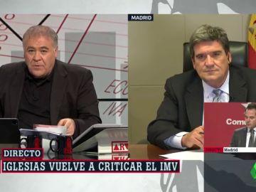 """Escrivá, sorprendido por las críticas de Iglesias sobre el IMV: """"De las enmiendas nos hemos enterado por la pensa"""""""