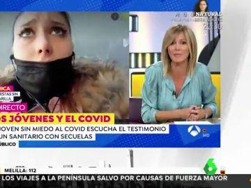 El rapapolvo de Susanna Griso a una joven negacionista del coronavirus