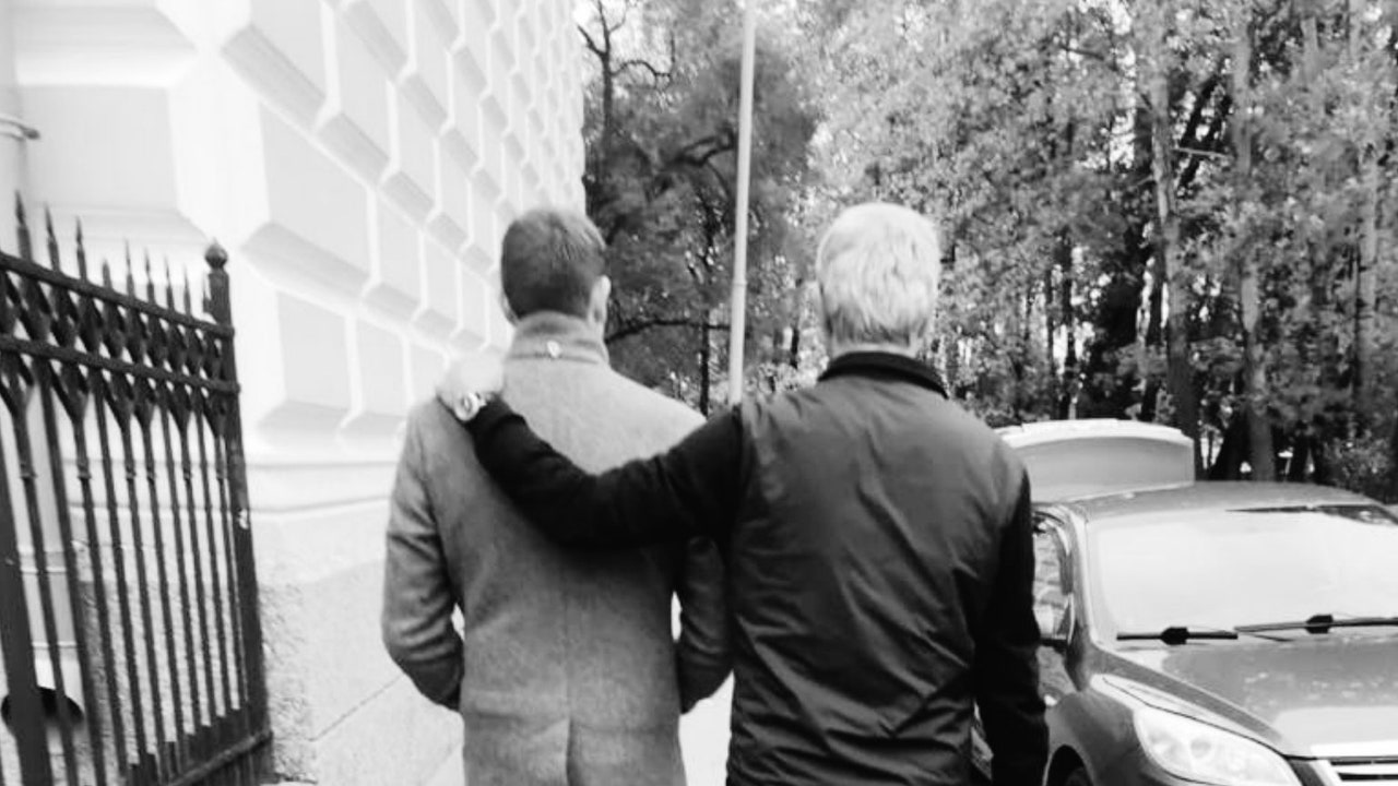 Vitaly Petrov, junto a su padre