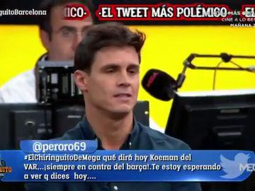 """El enfado de Edu Aguirre por el tweet del Barça sobre Cristiano y Messi: """"Es lamentable"""""""
