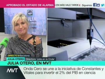 """Julia Otero, sobre la importancia del 'Objetivo 2%': """"Los países ricos lo son porque siempre han invertido en ciencia"""""""