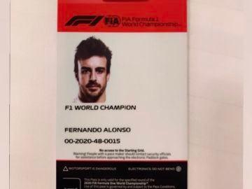 Acreditación de Fernando Alonso para Imola