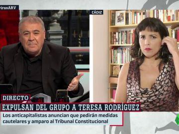 """Teresa Rodríguez, sobre su expulsión del Parlamento andaluz: """"Esto es una barbaridad democrática"""""""