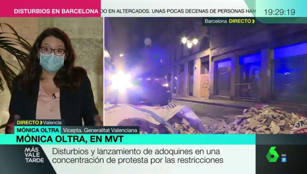 "Mónica Oltra: ""No podemos acostumbrarnos a que cada semana se muera el número de personas equivalente a que se caiga un avión"""
