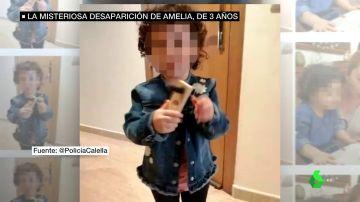 Amelia, la niña desaparecida por unas horas