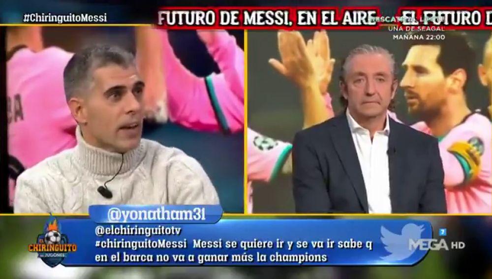 """Máxima tensión en 'El chiringuito' por Messi: """"Está en el ocaso de su carrera"""""""