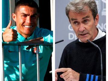 Cristiano Ronaldo y Fernando Simón