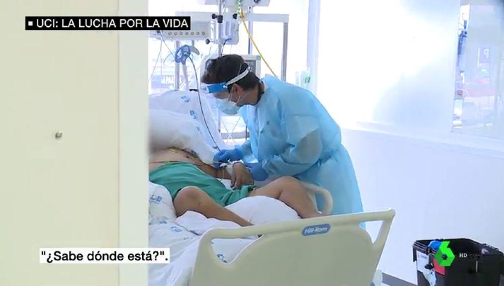 laSexta accede a la UCI de La Paz: así es la lucha contra la cara más dura de la pandemia