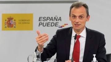 El ministro de Ciencia e Innovación, Pedro Duque