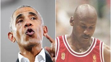 Barack Obama y Michael Jordan