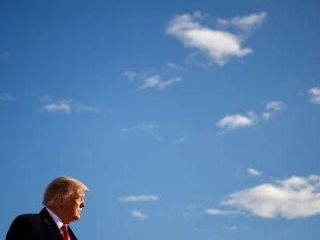 Donald Trump, durante un mitin de campaña