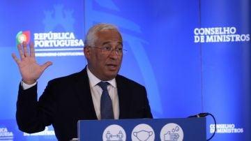 António Costa, primer ministro de Portugal, en rueda de prensa
