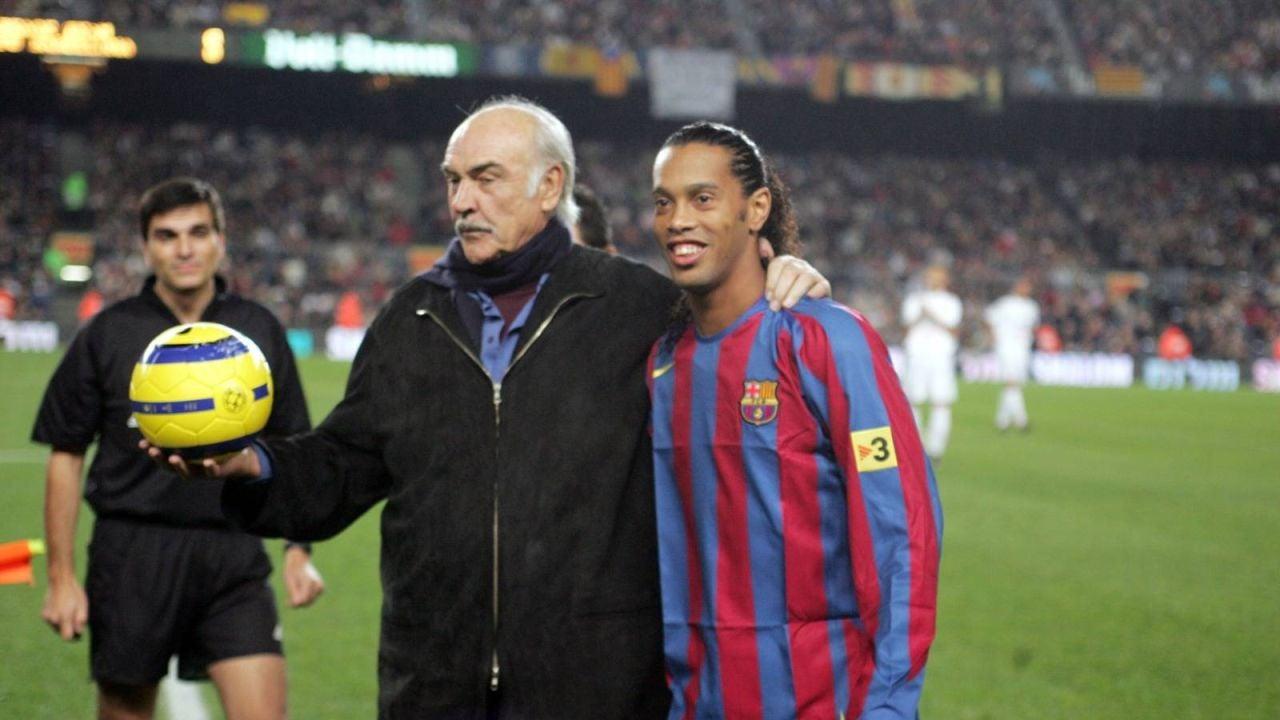 Sean Connery, con Ronaldinho
