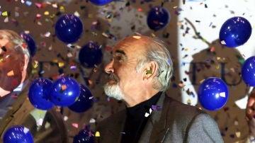 Sean Connery, durante la inauguración del Byre Theatre de St. Andrews